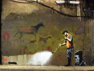 Banksy Painting (Photo courtesy of Flickr.com, Creative Commons)